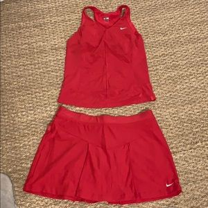 Nike Tennis Outfit S & XS Tennis Skirt & Top